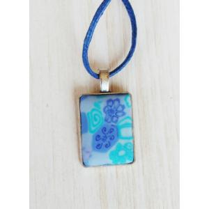 Millefiori kék nyaklánc