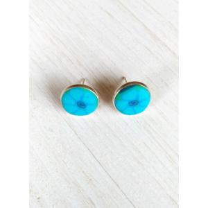 Millefiori fülbevaló kék