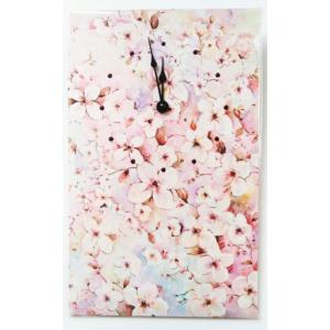 Selyem óra: cseresznye virágos