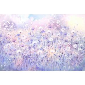 """""""Levendula álom"""" Selyem festmény (60x40 cm)"""