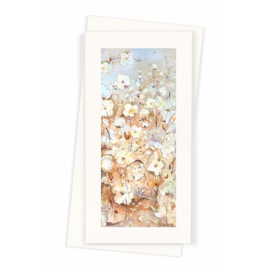 Képeslap selyemmel díszítve