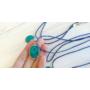 Kép 3/3 - Millefiori kék nyaklánc (ovális)