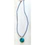 Kép 2/3 - Millefiori kék nyaklánc