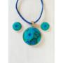 Kép 1/3 - Millefiori ékszer szett: kék