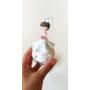 Kép 2/4 - Üveg tündéres fenyőfadísz: M méret