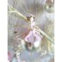 Kép 1/3 - Üveg rózsaszín fenyődísz: L méret