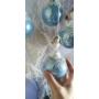 Kép 2/3 - Kék csipkés üveggömb (nagy)