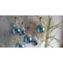 Kép 3/3 - Kék csipkés üveggömb