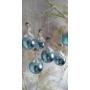 Kép 1/3 - Kék csipkés üveggömb