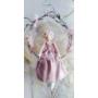 Kép 3/3 - Cseresznye virágos koszorú babával